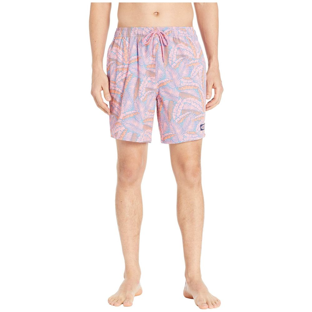 ヴィニヤードヴァインズ Vineyard Vines メンズ 水着・ビーチウェア 海パン【Island Palms Chappy Swim Trunks】Washed Neon Pink