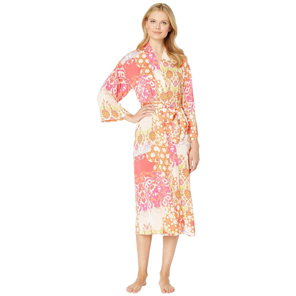 ナトリ N by Natori レディース インナー・下着 ガウン・バスローブ【Printed Silky Satin Robe】Fuchsia/Coral