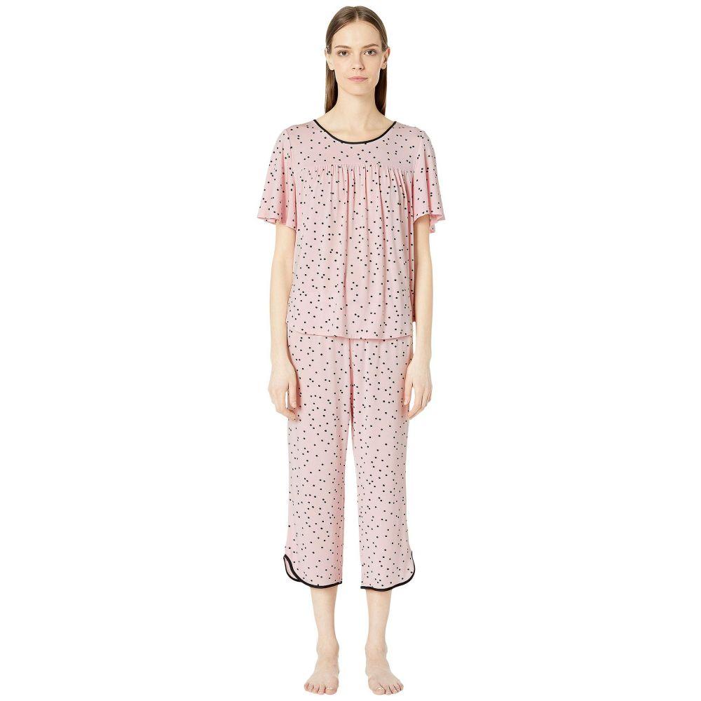 ケイト スペード Kate Spade New York レディース インナー・下着 パジャマ・上下セット【Evergreen Cropped Short Sleeve Pajama Set】Scattered Dot Pink