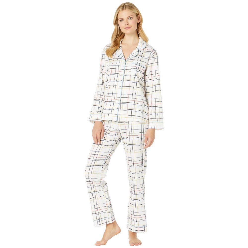 ベッドヘッド BedHead レディース インナー・下着 パジャマ・上下セット【Long Sleeve Classic Notch Collar Pajama Set】Modern Plaid