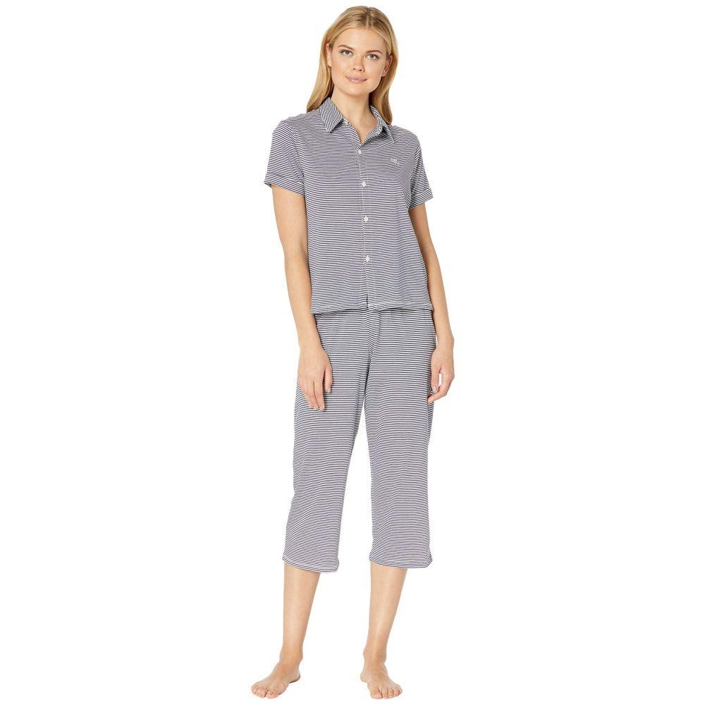 ラルフ ローレン LAUREN Ralph Lauren レディース インナー・下着 パジャマ・上下セット【Roll Cuff Capris Pajama Set】Blue Stripe