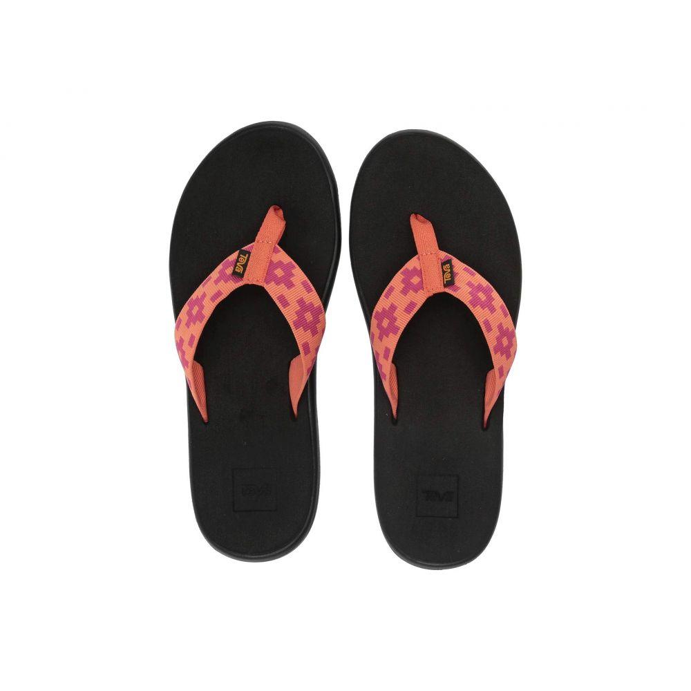 テバ Teva レディース シューズ・靴 ビーチサンダル【Voya Flip】Maya Check Flamingo