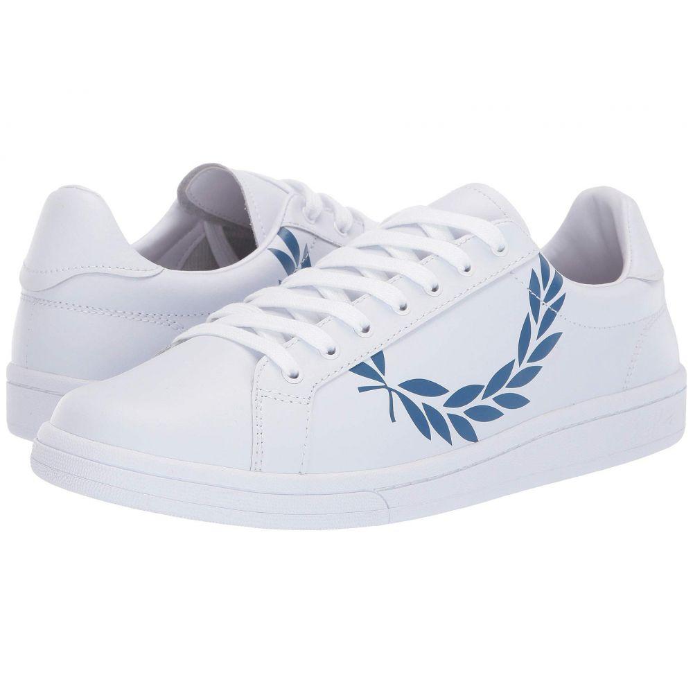 フレッドペリー Fred Perry メンズ シューズ・靴 スニーカー【B721 Printed Laurel Leather】White/Mid Blue