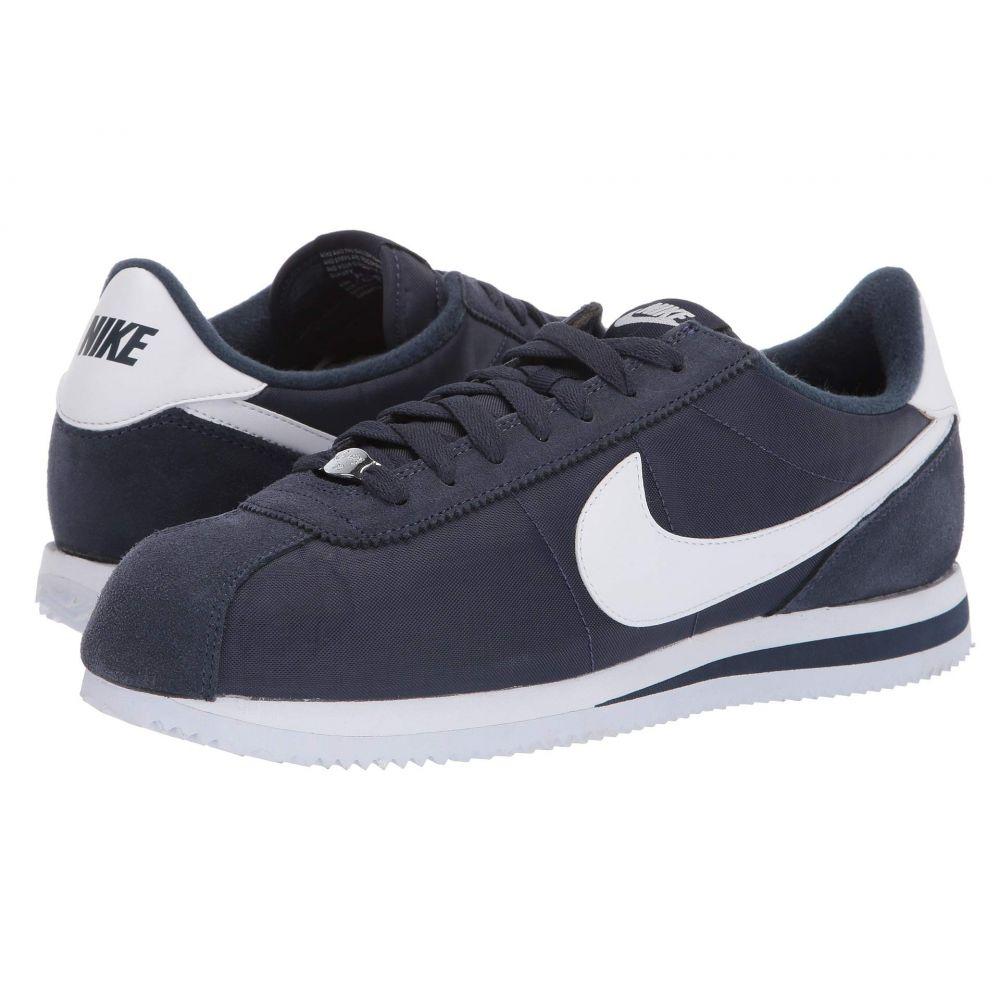ナイキ Nike メンズ シューズ・靴 スニーカー【Cortez Nylon】Obsidian/White/Metallic Silver