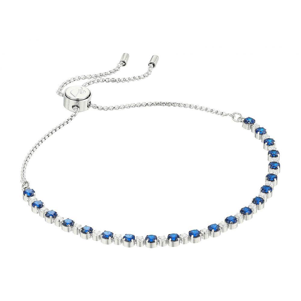 スワロフスキー Swarovski レディース ジュエリー・アクセサリー ブレスレット【Subtle Bracelet】Blue/Rhodium Plating