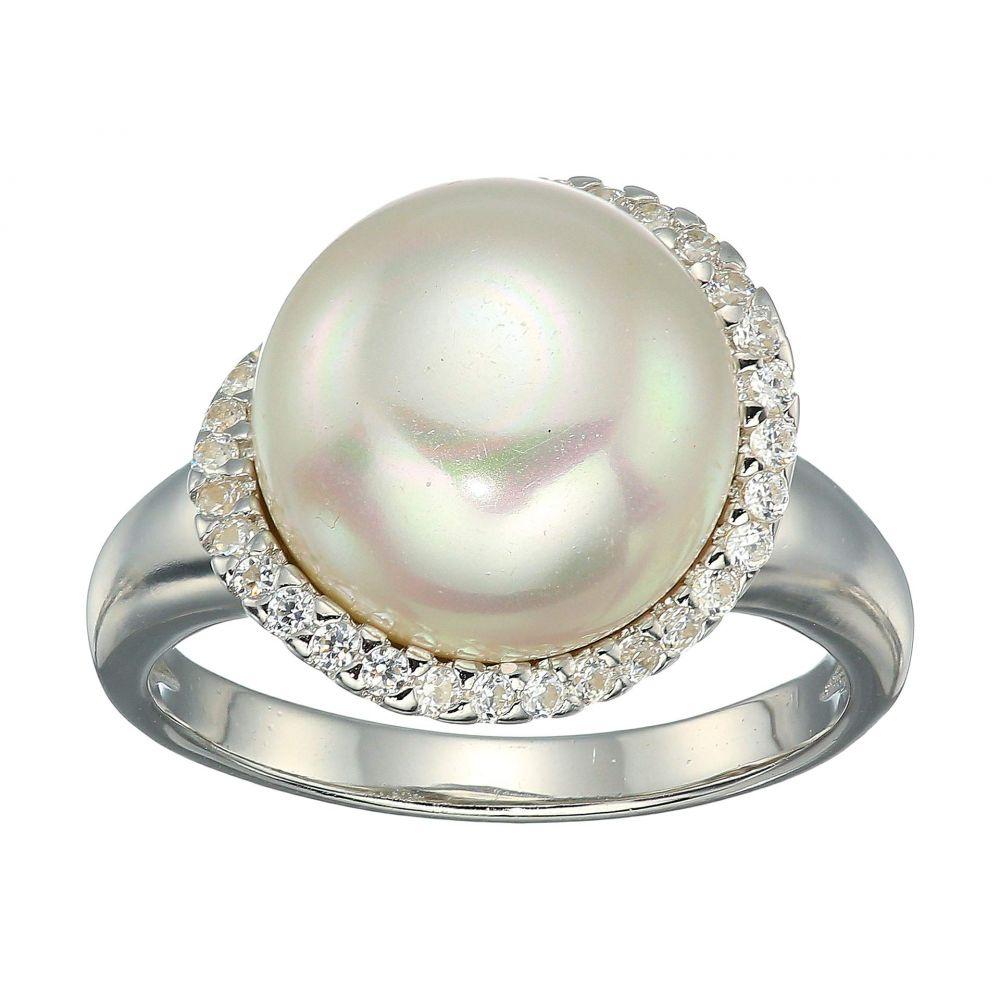 マジョリカ Majorica レディース ジュエリー・アクセサリー 指輪・リング【Rosa 12mm White Flat Pearl w/ CZ Ring On Sterling Silver】White