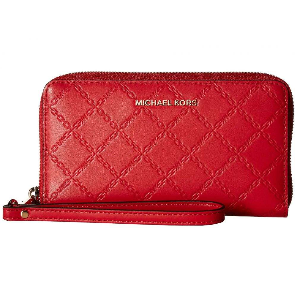 マイケル コース MICHAEL Michael Kors レディース スマホケース【Mercer Large Flat Multifunction Phone Case】Bright Red 1