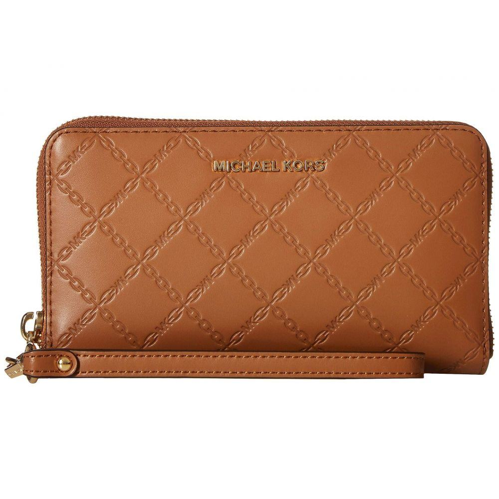 マイケル コース MICHAEL Michael Kors レディース スマホケース【Mercer Large Flat Multifunction Phone Case】Acorn