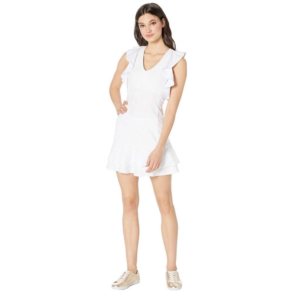 リリーピュリッツァー Lilly Pulitzer レディース テニス トップス【UPF 50+ Rally Tennis Dress】Resort White Nylon Tennis Monkey Knit Jacquard