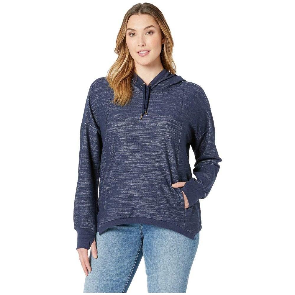 シェイプアクティブウェア SHAPE Activewear レディース トップス スウェット・トレーナー【Plus Size Getaway Crop Sweatshirt】Navy Heather