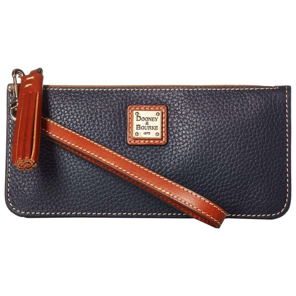 ドゥーニー&バーク Dooney Tatum & Dooney Bourke Bourke レディース バッグ クラッチバッグ【Pebble Tatum Wristlet】Midnight Blue/Tan Trim, La. Cosme:1415b6df --- sunward.msk.ru