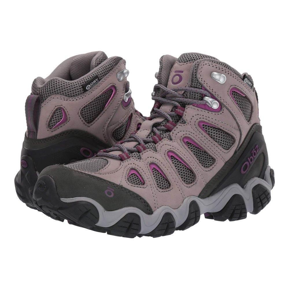 オボズ Oboz レディース ハイキング・登山 シューズ・靴【Sawtooth II Mid B-Dry】Pewter/Violet