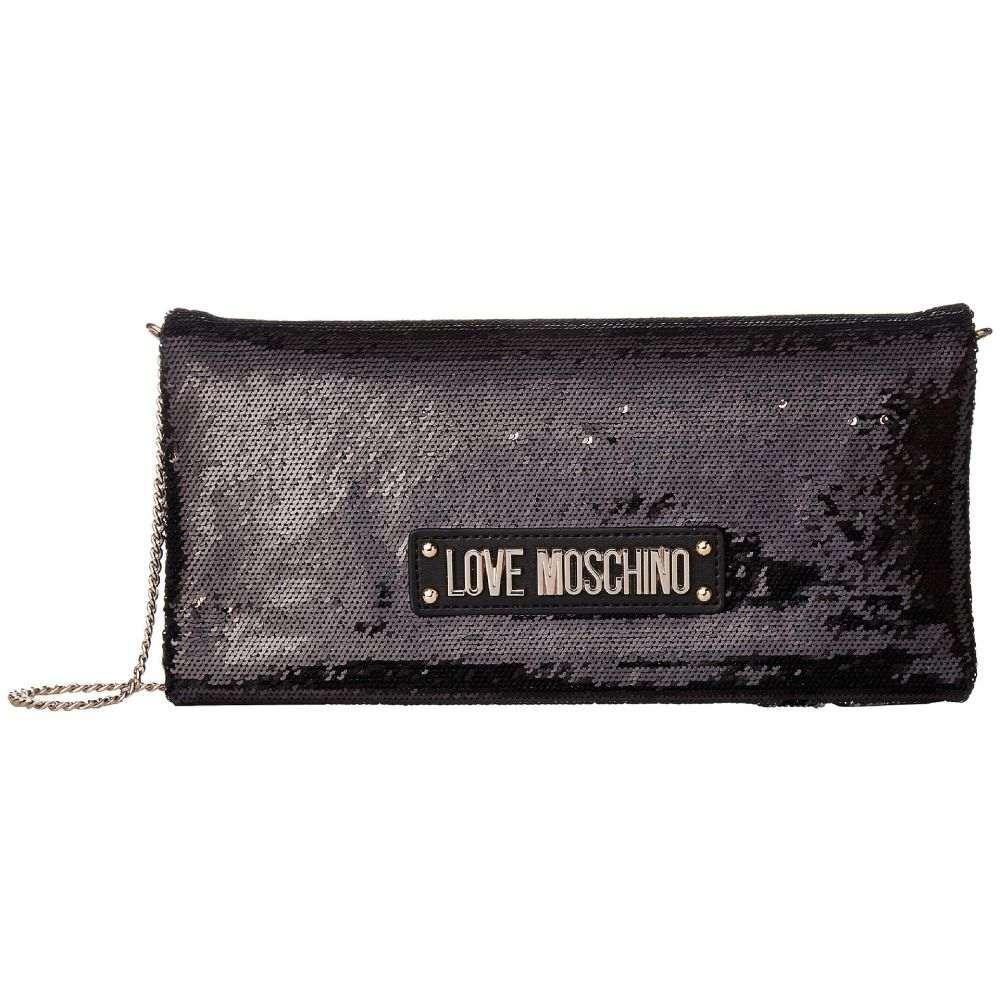 モスキーノ レディース LOVE Moschino レディース バッグ Evening モスキーノ クラッチバッグ【Sequin Evening Bag】Black, ワンダードック:8f1450b5 --- sunward.msk.ru
