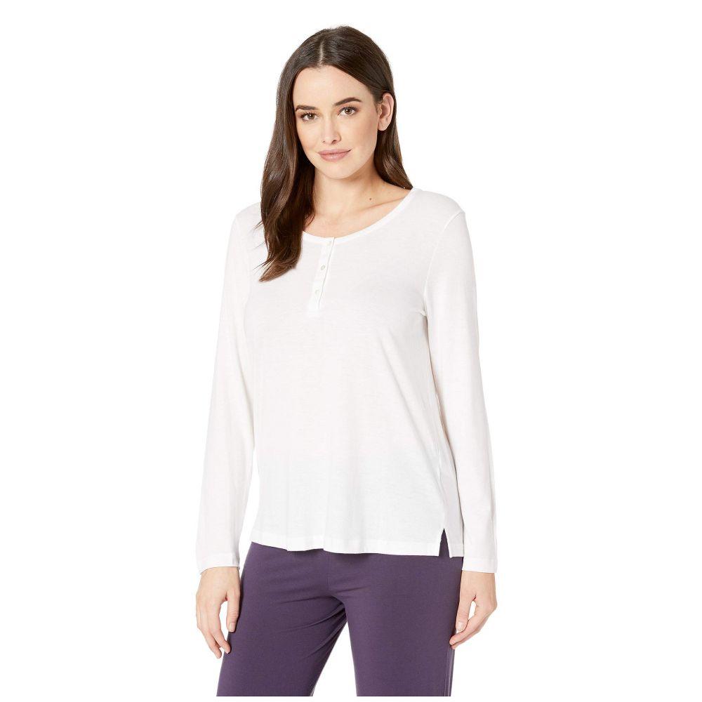 ハンロ レディース トップス 年末年始大決算 長袖Tシャツ White サイズ交換無料 Hanro ヘンリーシャツ Shirt セール特価品 Lounge Sleeve Sleep Long Henley