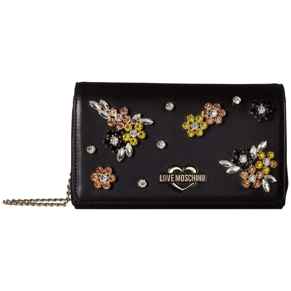 モスキーノ LOVE Moschino レディース バッグ ショルダーバッグ【Evening Bag with Flower Hardware】Black