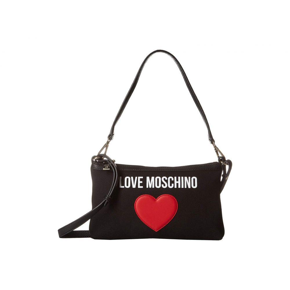 モスキーノ LOVE Moschino レディース バッグ ショルダーバッグ【Canvas Shoulder Bag】Black