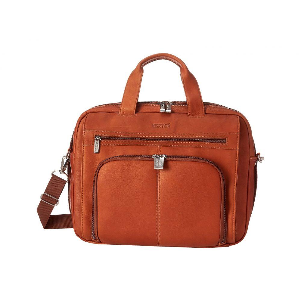 ケネス コール Kenneth Cole Reaction レディース バッグ パソコンバッグ【Out of the Bag' - 5 to 6 1/2' Double Gusset Expandable Top Zip Portfolio Computer Case】Cognac