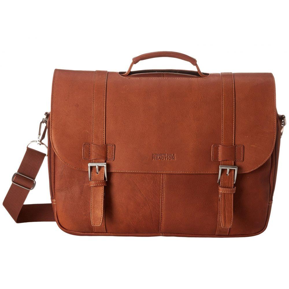 ケネス コール Kenneth Cole Reaction レディース バッグ パソコンバッグ【Colombian Leather - Flapover Portfolio/Computer Case】Cognac