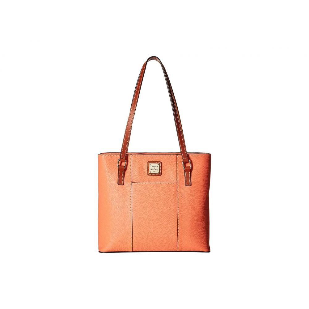 ドゥーニー&バーク Dooney & Bourke レディース バッグ トートバッグ【Pebble Small Lexington Shopper】Coral/Tan Trim