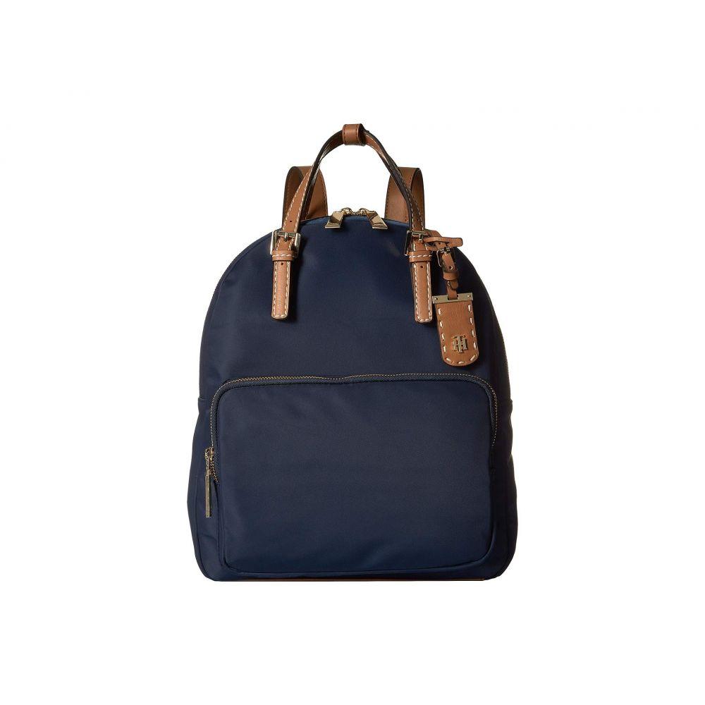 トミー ヒルフィガー Tommy Hilfiger レディース バッグ バックパック・リュック【Julia Double Handle Solid Nylon Backpack】Tommy Navy