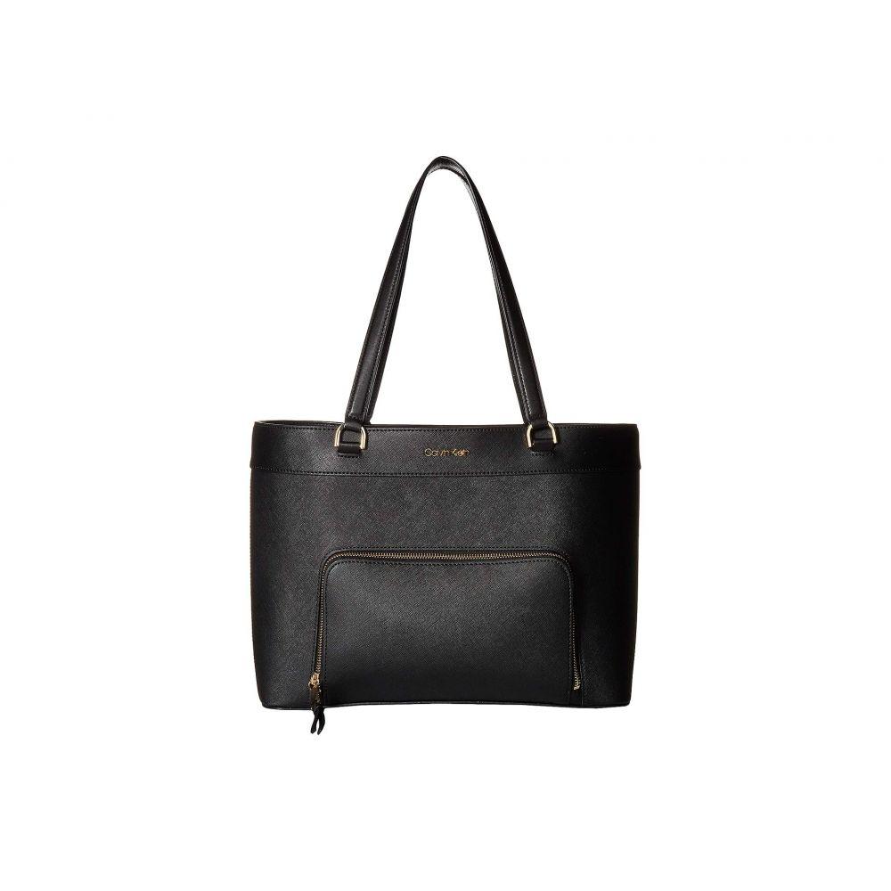 カルバンクライン Calvin Klein レディース バッグ トートバッグ【Louise Saffiano Leather Tote】Black/Gold