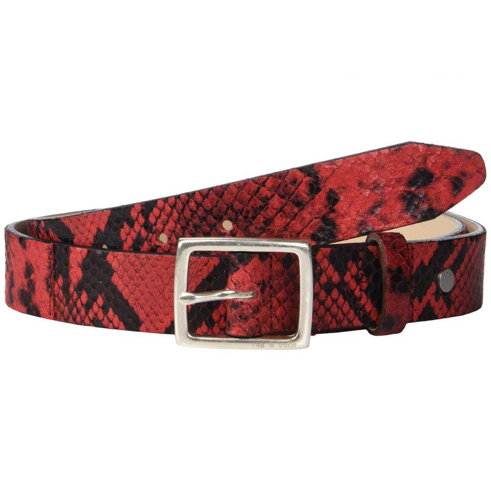 ラグ&ボーン rag & bone レディース ベルト【Boyfriend Belt】Red