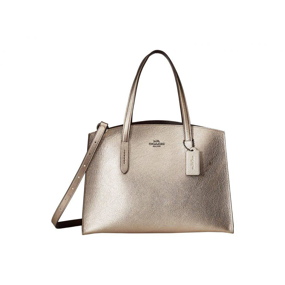 コーチ COACH レディース バッグ ハンドバッグ【Metallic Leather Charlie Carryall】Gunmetal/Platinum