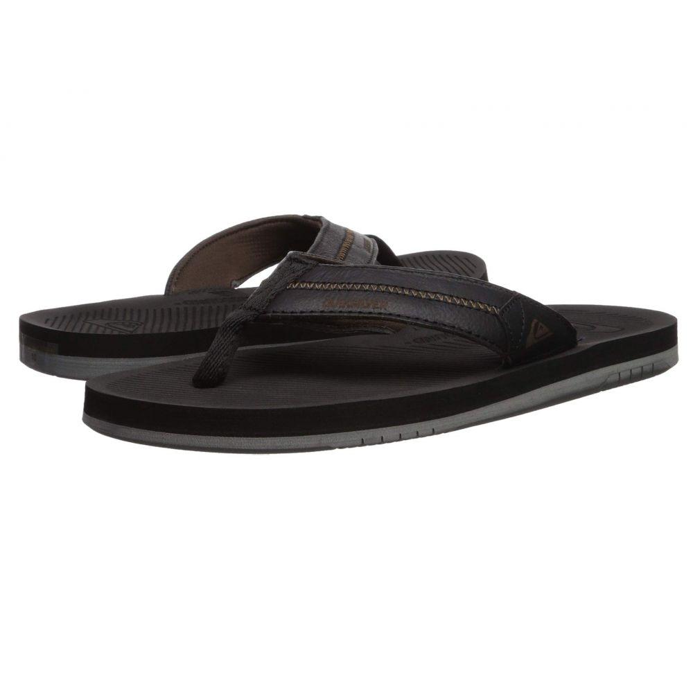 クイックシルバー メンズ Quiksilver メンズ シューズ・靴 ビーチサンダル【Coastal Oasis Deluxe Quiksilver】Black/Black/Grey, 上房郡:d129272c --- sunward.msk.ru
