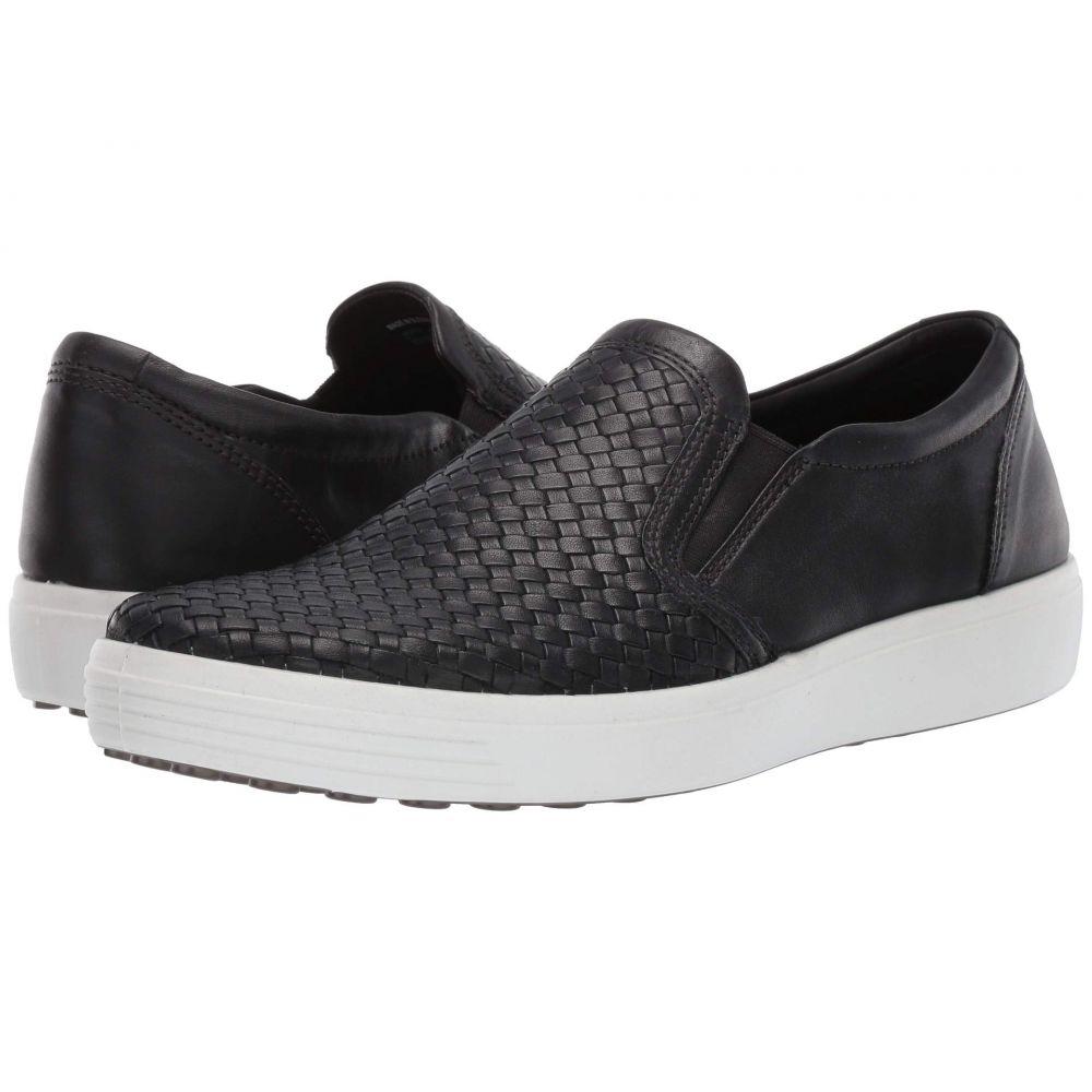 エコー ECCO メンズ シューズ・靴 スリッポン・フラット【Soft 7 Plaited Slip-On】Black