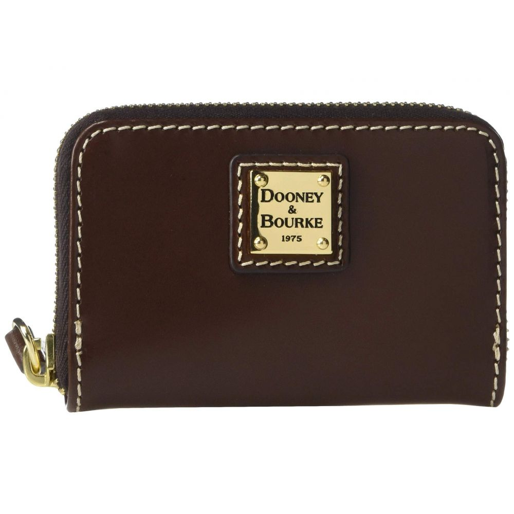 ドゥーニー&バーク Dooney & Bourke レディース カードケース・名刺入れ【Selleria Zip Around Credit Card Case】Chestnut/Chestnut Trim