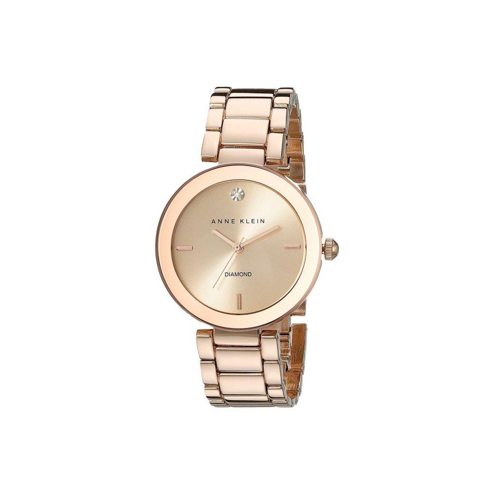 アン クライン Anne Klein レディース 腕時計【AK-1362RGRG Diamond Dial Watch】Rose Gold/Rose Gold