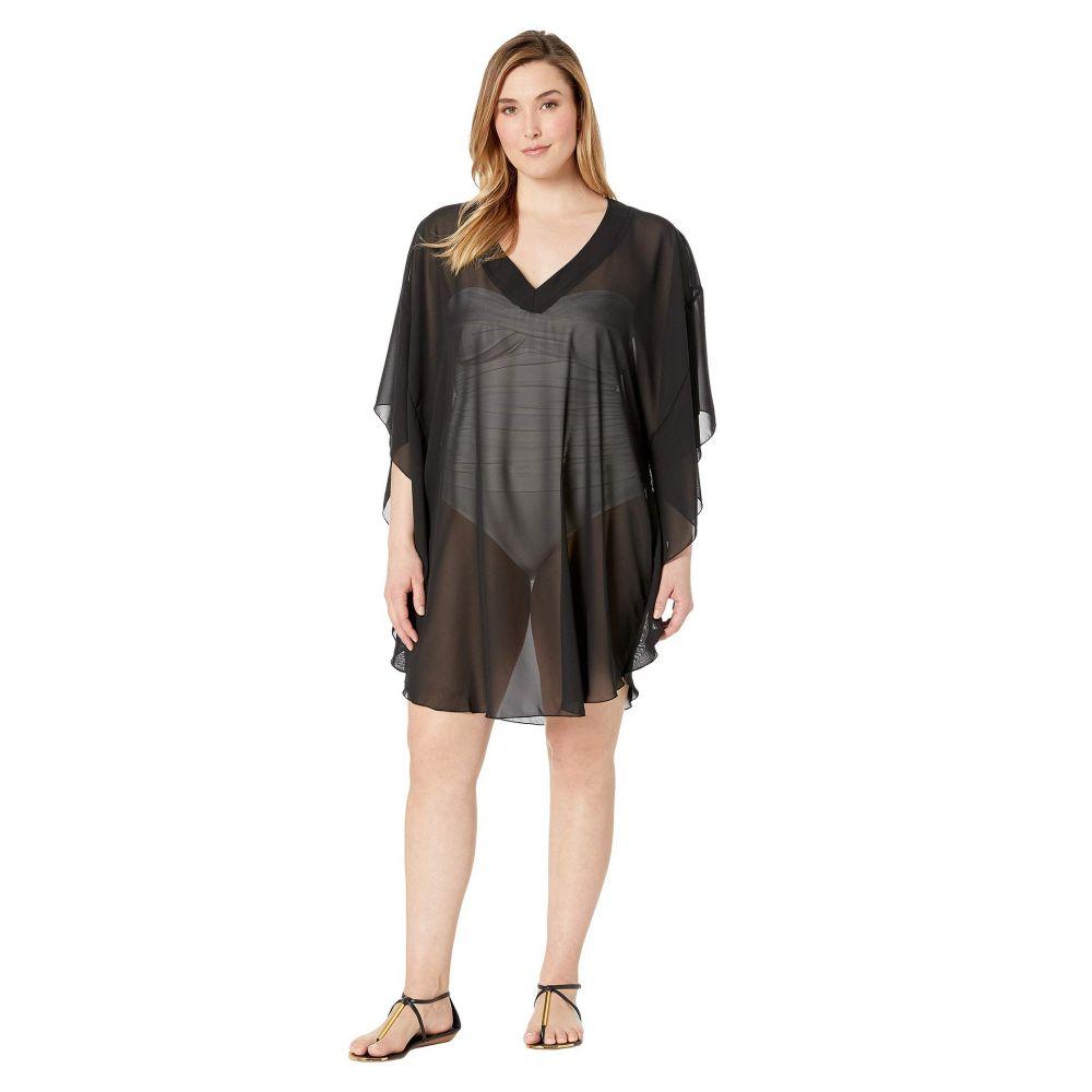マキシン オブ ハリウッド Maxine of Hollywood Swimwear レディース 水着・ビーチウェア ビーチウェア【Plus Size Solid Chiffon Caftan Cover-Up】Black