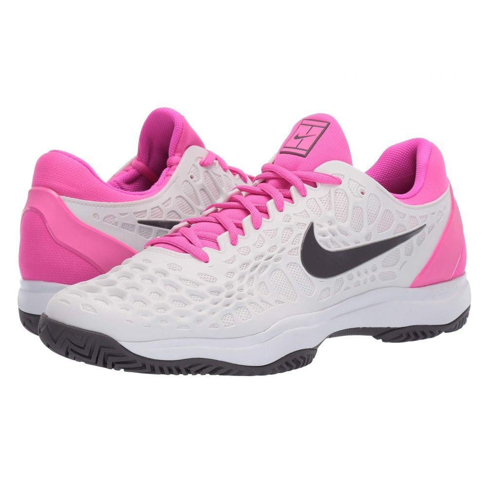 ナイキ Nike メンズ テニス シューズ・靴【Zoom Cage 3 HC】Platinum Tint/Thunder Grey/Laser Fuchsia
