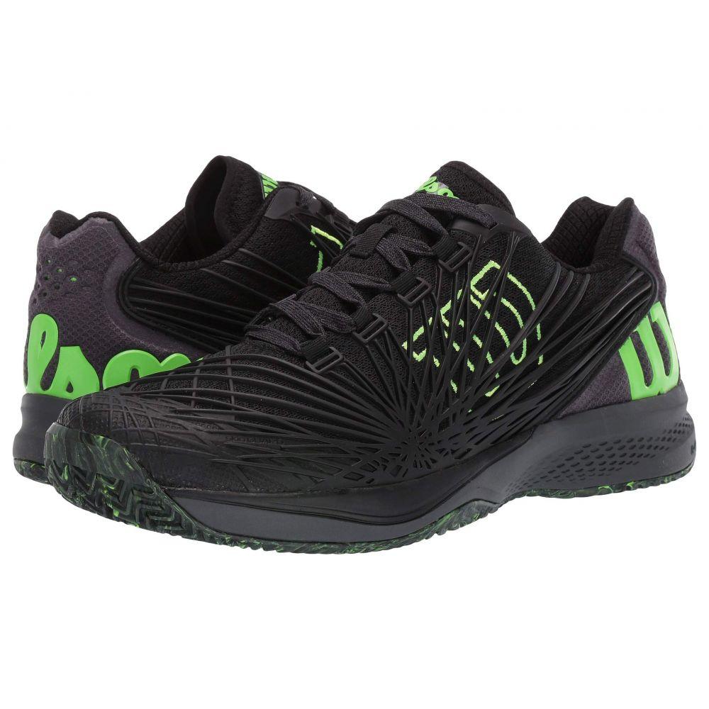 ウィルソン Wilson メンズ テニス シューズ・靴【Kaos 2.0】Black/Ebony/Green Gecko