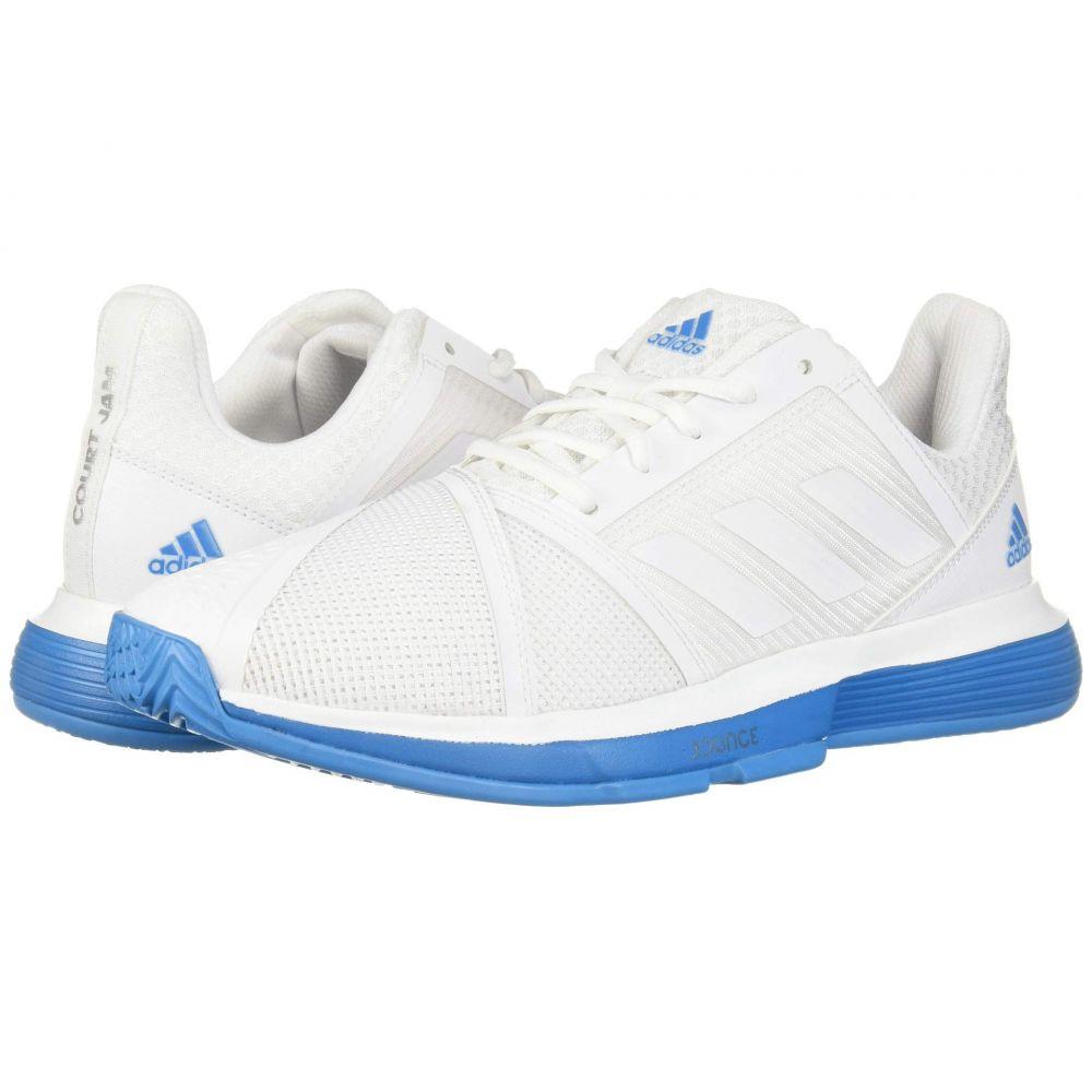 アディダス adidas メンズ テニス シューズ・靴【CourtJam Bounce】Footwear White/Footwear White/Shock Cyan