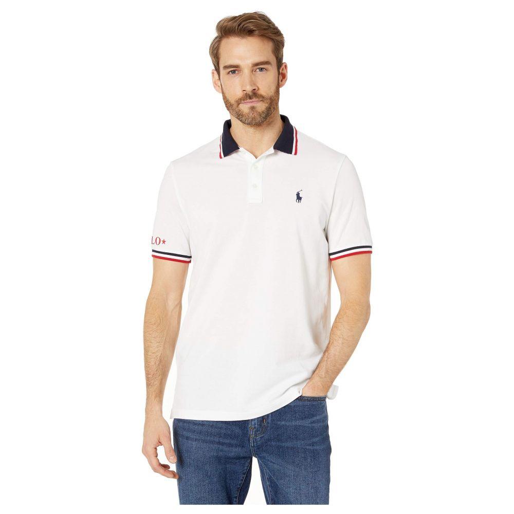ラルフ ローレン Polo Ralph Lauren メンズ トップス ポロシャツ【Short Sleeve Classic Fit Rubberized Polo】White