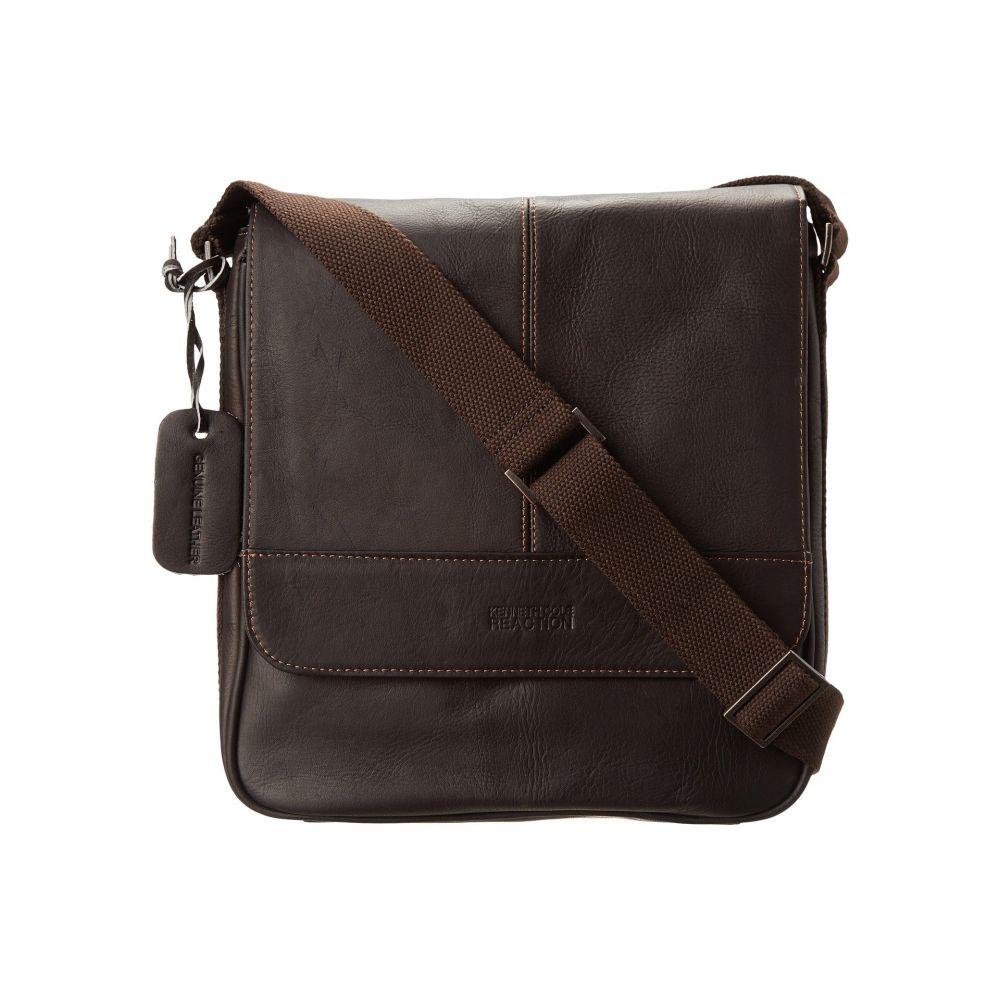 ケネス コール Kenneth Cole Reaction メンズ バッグ パソコンバッグ【Columbian Leather Vertical Flapover Tablet Case】Dark Brown
