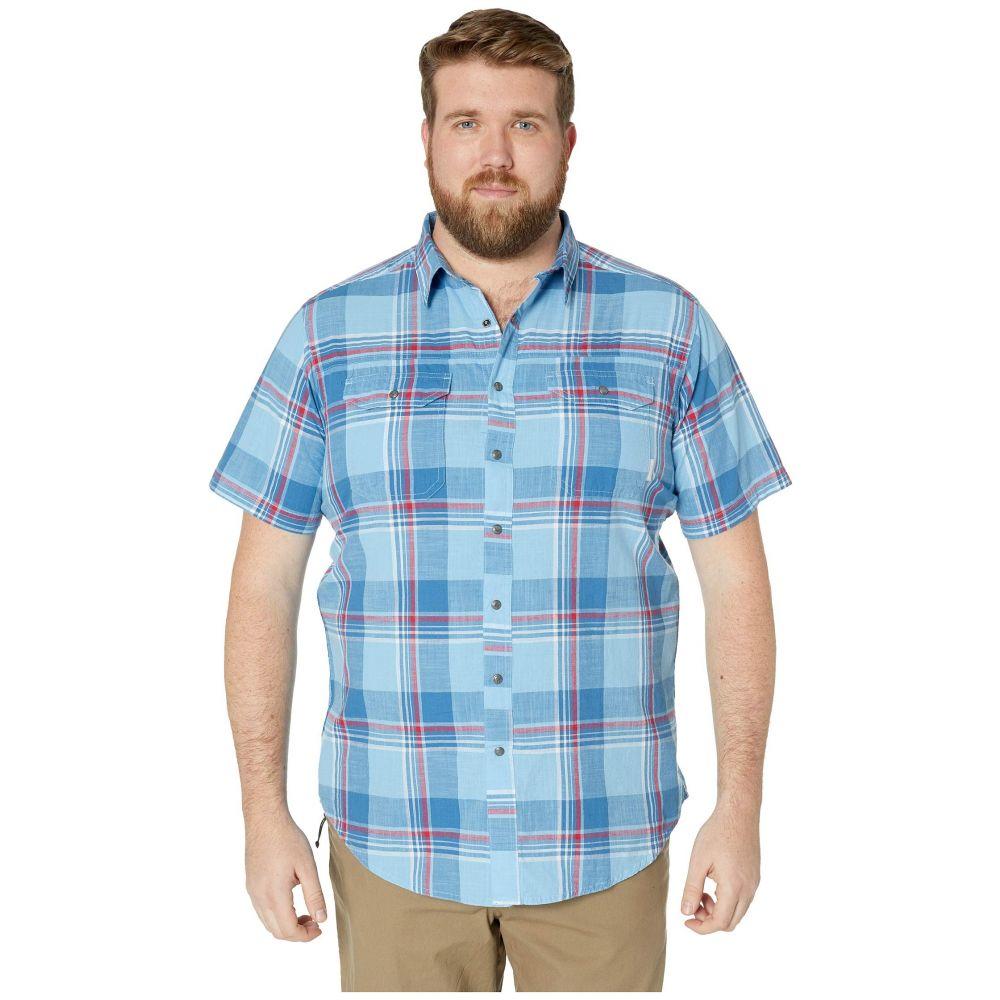 コロンビア Columbia メンズ トップス 半袖シャツ【Big and Tall Leadville Ridge Yarn-Dye Short Sleeve Shirt】Impulse Blue Big Check