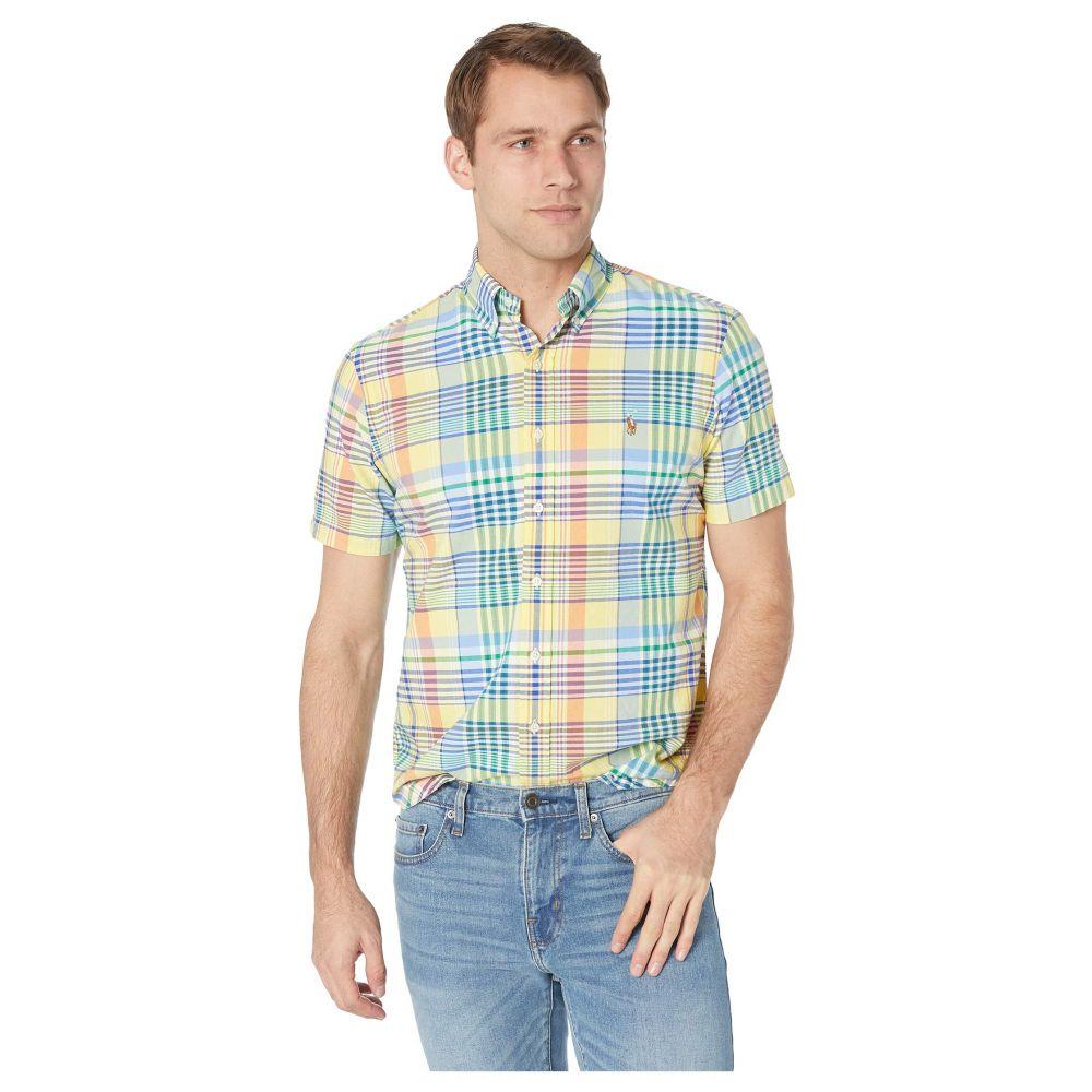 ラルフ ローレン Polo Ralph Lauren メンズ トップス 半袖シャツ【Short Sleeve Classic Fit Oxford】Yellow/Navy Multi