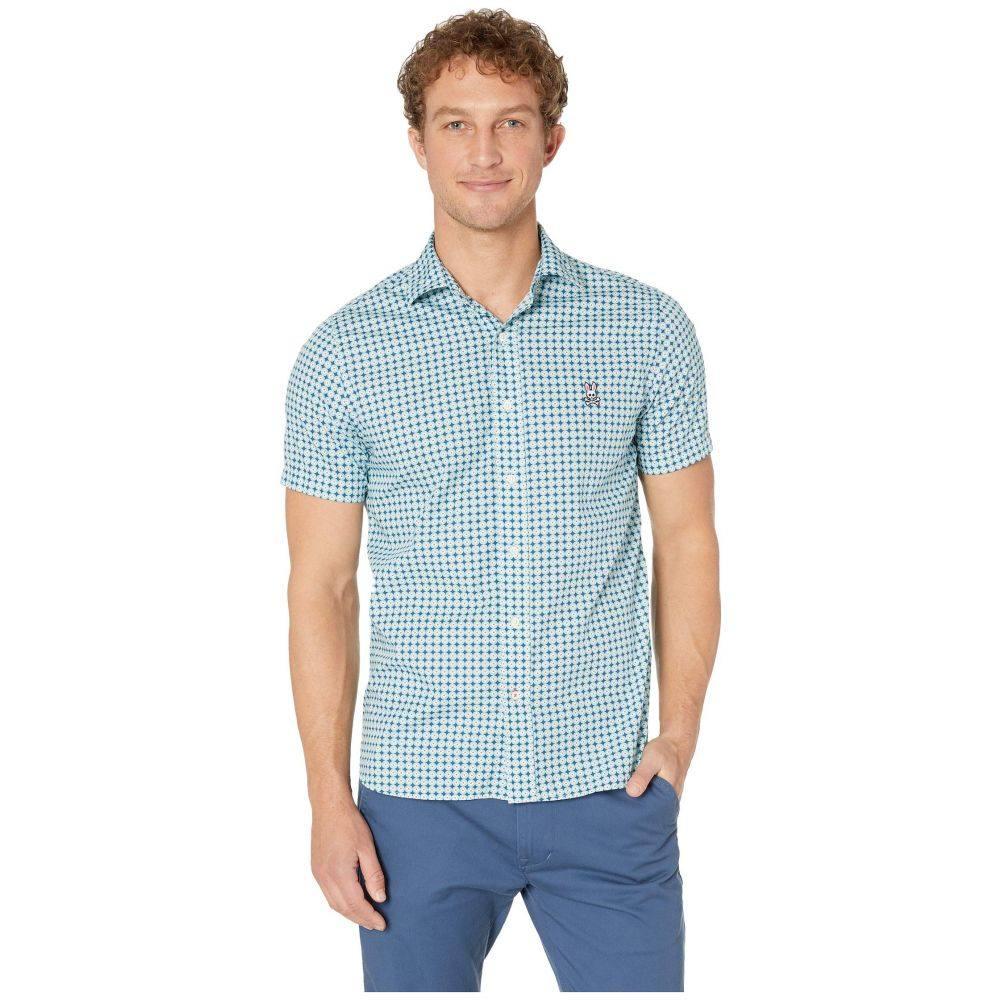 サイコバニー Psycho Bunny メンズ トップス 半袖シャツ【Laxford Short Sleeve Shirt】Bermuda