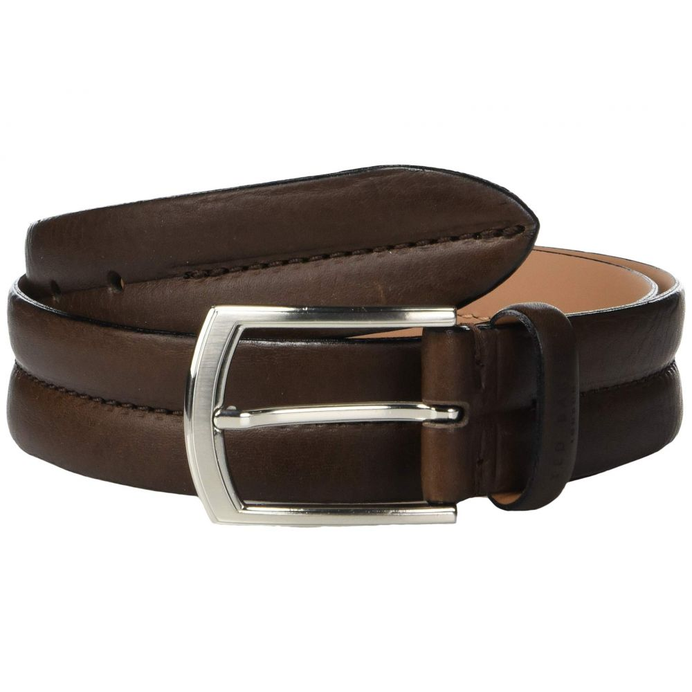 テッドベーカー Ted Baker メンズ ベルト【Benn Stitched Leather Belt】Chocolate
