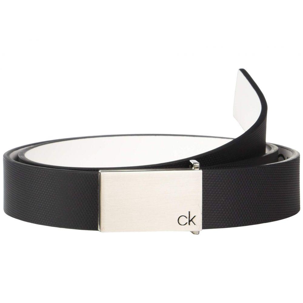 カルバンクライン Calvin Klein メンズ ベルト【30mm Textured Leather Belt】Black