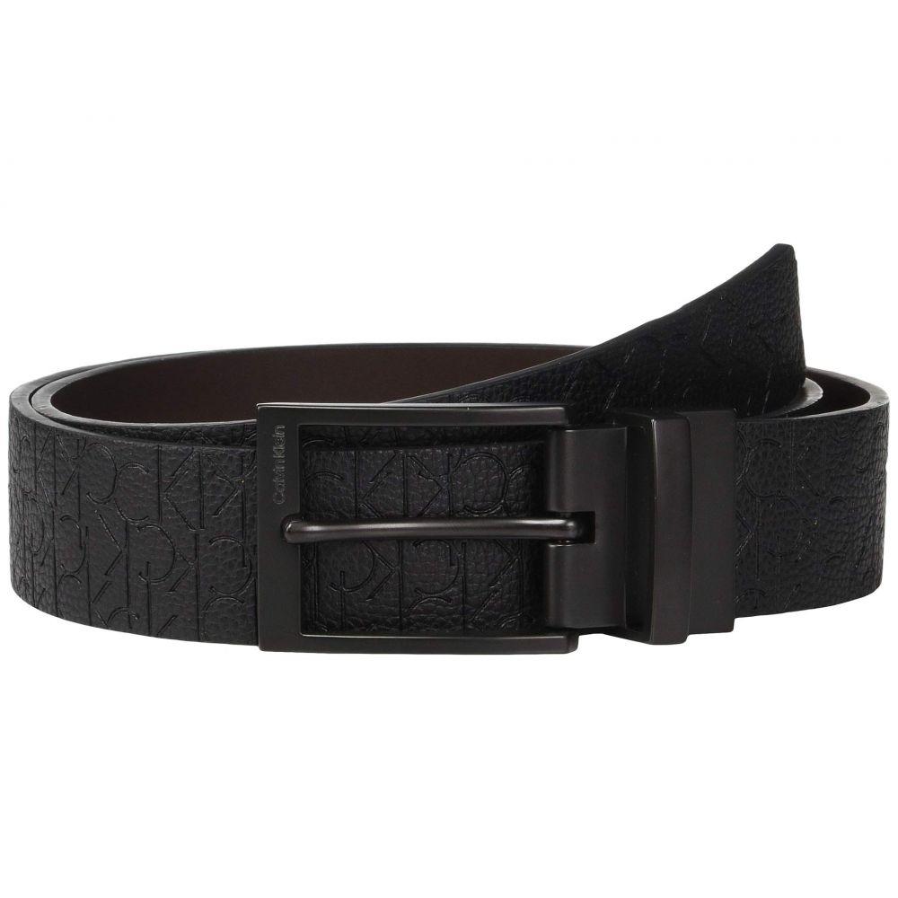 カルバンクライン Calvin Klein メンズ ベルト【35mm Reversible Embossed Logo Belt】Black/Dark Brown