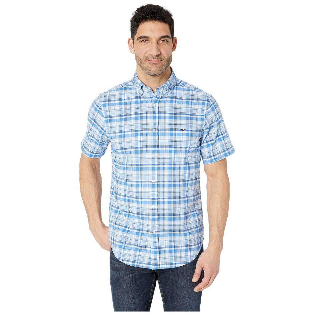 ヴィニヤードヴァインズ Vineyard Vines メンズ トップス 半袖シャツ【Blackbeard Plaid Short Sleeve Classic Tucker Shirt】Hydrangea