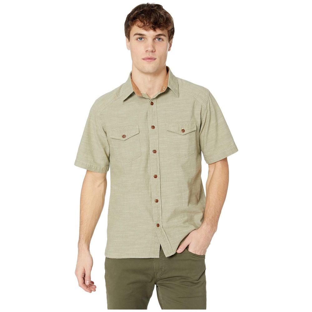 フライ Frye メンズ トップス 半袖シャツ【Short Sleeve Addison Chambray Shirt】Deep Lichen Green