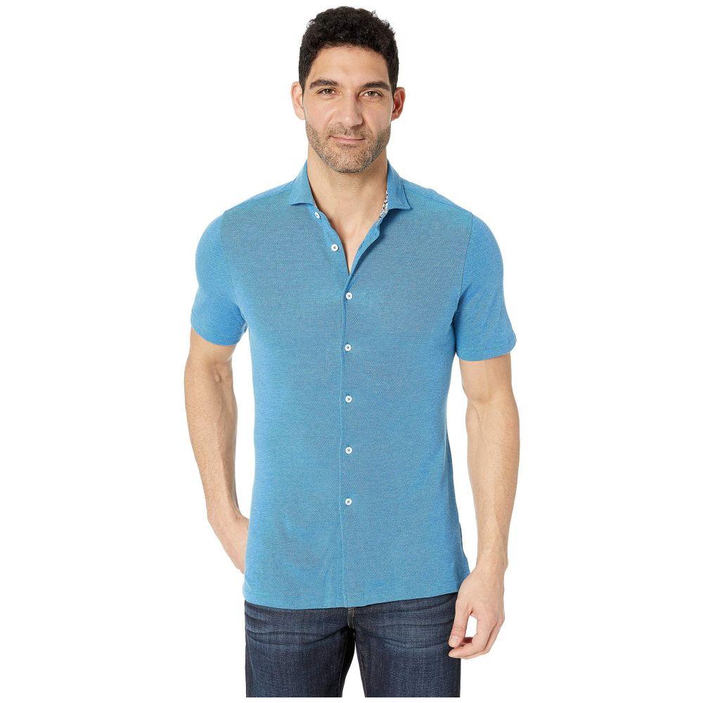 ブガッチ BUGATCHI メンズ トップス 半袖シャツ【Julian Short Sleeve Button-Up Shirt】Turquoise