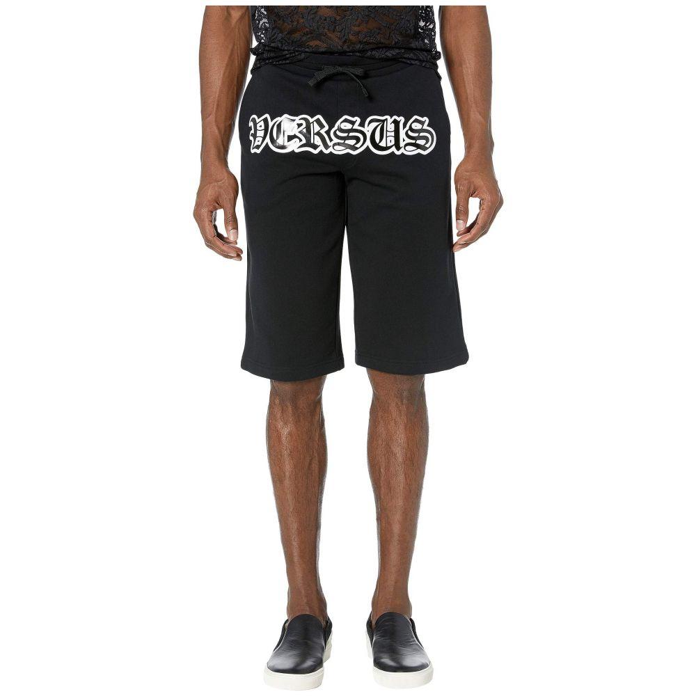ヴェルサーチ Shorts】Black Versus Versace メンズ ボトムス・パンツ ショートパンツ【Script Logo Logo Versus Shorts】Black, ブランドストリートリング:5e188ae2 --- sunward.msk.ru
