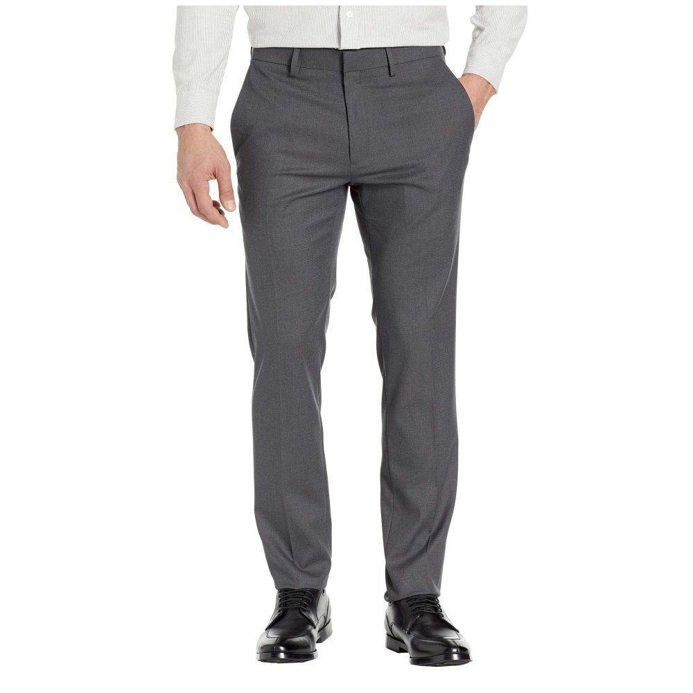 ケネス コール Kenneth Cole Reaction メンズ ボトムス・パンツ スラックス【Stretch Shadow Check Slim Fit Dress Pants】Charcoal