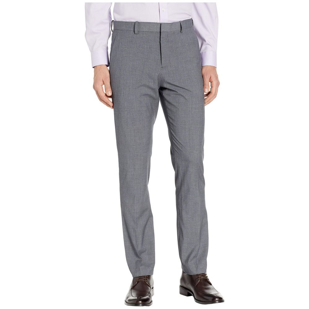ペリー エリス Perry Ellis Portfolio メンズ ボトムス・パンツ スラックス【Slim-Fit Subtle Plaid Dress Pants】Brushed Nickel