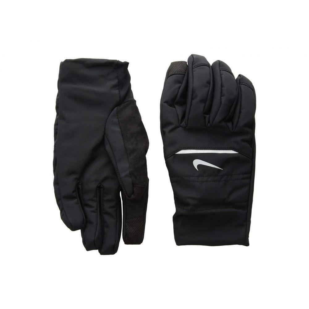 ナイキ Nike メンズ ランニング・ウォーキング グローブ【Aeroshield Running Gloves】Black/Silver